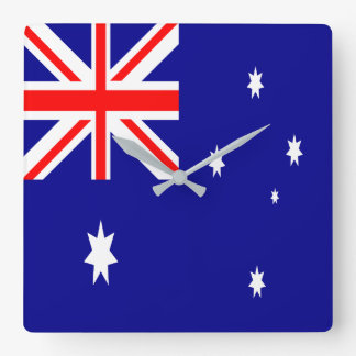 Australien flagga fyrkantig klocka