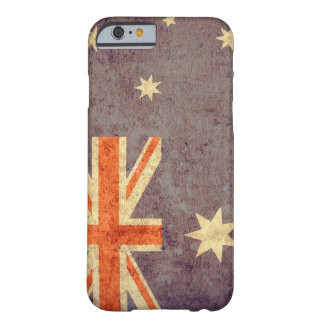 Australien flagga - Grunge Barely There iPhone 6 Skal