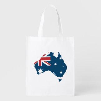 Australien flagga och karta återanvändbar påse