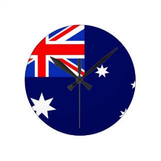 Australien flagga rund klocka