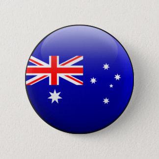 Australien flagga standard knapp rund 5.7 cm