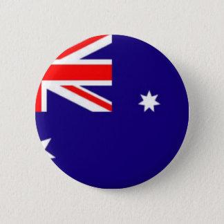 Australien-flagga Standard Knapp Rund 5.7 Cm