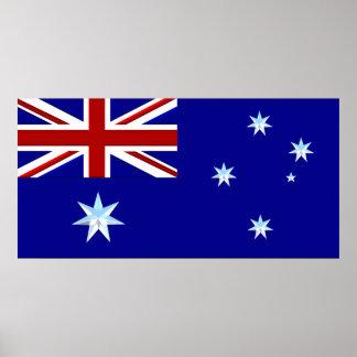 Australien flaggaaffisch i krom (1) poster