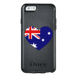 Australien flaggahjärta OtterBox iPhone 6/6s skal