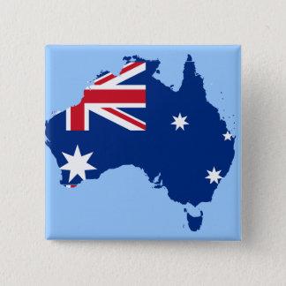 Australien flaggakarta standard kanpp fyrkantig 5.1 cm