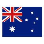 Australien flaggavykort vykort