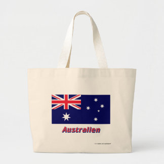 Australien Flagge mit-deutschem Namen Tote Bags