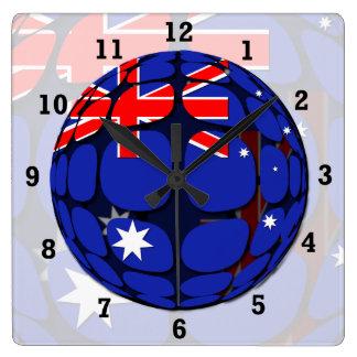 Australien Fyrkantig Klocka