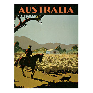 Australien i solvintage resor vykort
