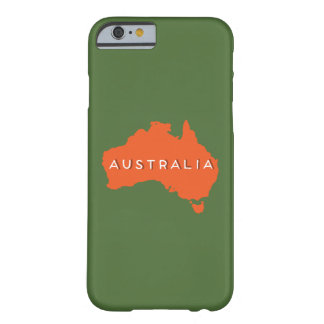 Australien landSilhouette Barely There iPhone 6 Skal