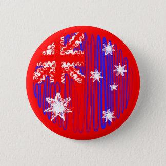 Australien på rött standard knapp rund 5.7 cm