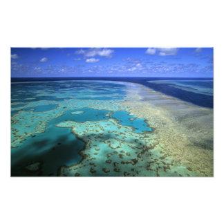 Australien - Queensland - underbar barriärrev. 3 Fototryck
