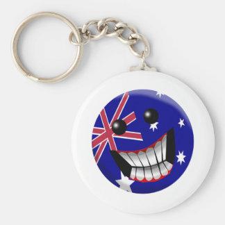 Australien Rund Nyckelring