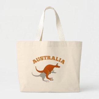 Australien som hoppar kängurun jumbo tygkasse