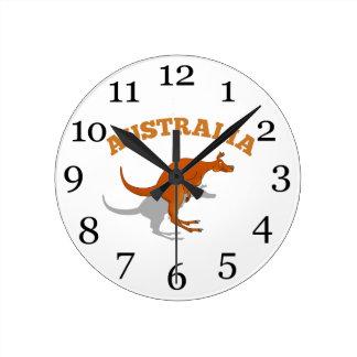 Australien som hoppar kängurun rund klocka