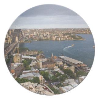 Australien Sydney, beskådar över stenarna & Tallrik