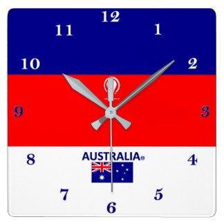 Australien tar tid på den märkes- väggen fyrkantig klocka