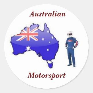 Australien tävlingkostym, australier, Motorsport Runt Klistermärke
