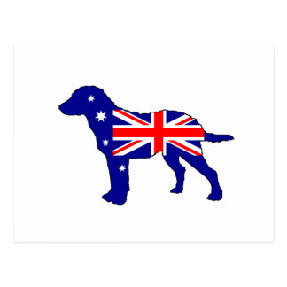 Australiensisk flagga - ChesapeakefjärdRetriever Vykort