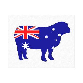 Australiensisk flagga - får canvastryck