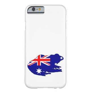 Australiensisk flagga - groda barely there iPhone 6 skal