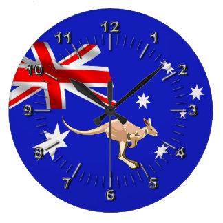 Australiensisk flagga stor klocka