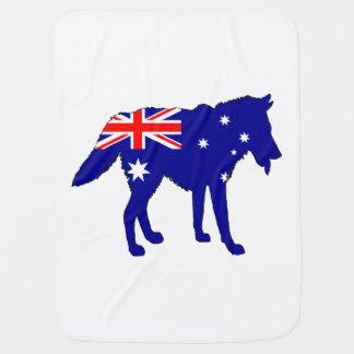 Australiensisk flagga - varg bebisfilt