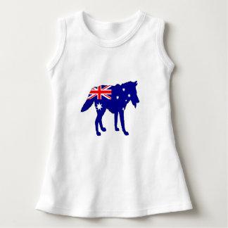 Australiensisk flagga - varg tee