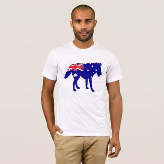 Australiensisk flagga - varg tshirts