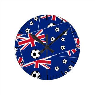 Australiensisk flaggafotboll medium rund klocka