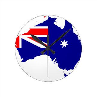 Australiensisk flaggakarta medium rund klocka