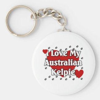 Australiensisk Kelpie Rund Nyckelring