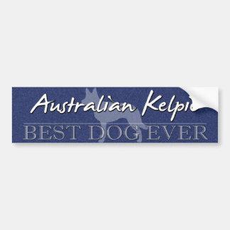 Australiensisk Kelpiebildekal för bäst hund Bildekal