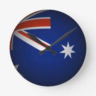 Australiensisk medborgareflaggasphere, look 3D Rund Klocka