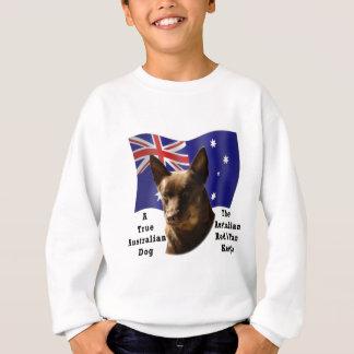 Australiensisk röd och solbränd Kelpie med flagga Tee Shirt