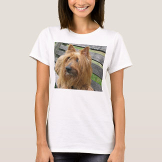 australiensisk terrier på bench.png t shirt