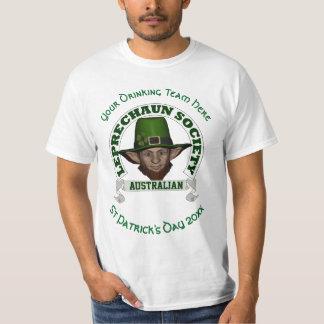 Australiensisk trollanpassningsbarst patrick's day tshirts