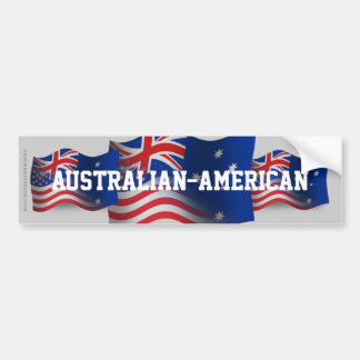 Australier-Amerikan som vinkar flagga Bildekal