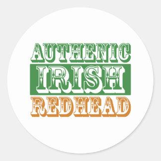 Autentisk irländsk rödhårig runt klistermärke