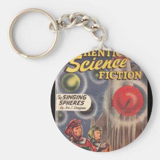 Autentisk _Pulp för science fiction 023 Rund Nyckelring