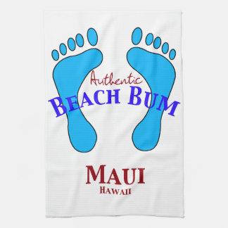 Autentisk strandlodis Maui Hawaii Kökshandduk