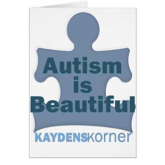 Autism är härlig hälsningskort