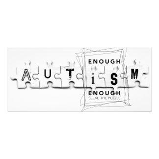 Autism nog är nog reklamkort