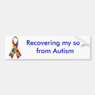 autism_ribbon som återställer min son från Autism Bildekal