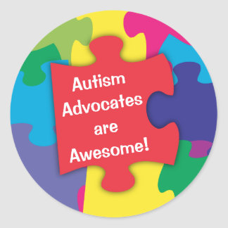Autismförkämpar är enorma runt klistermärke