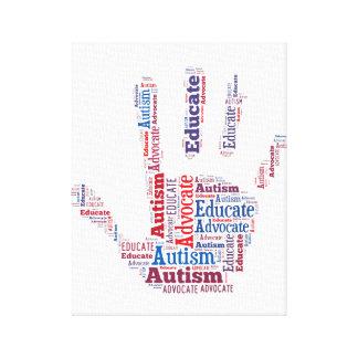 autismförkämpen och utbildar slågen in kanfas GTK Canvastryck
