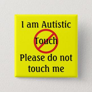AutismMed larmar inget handlag Standard Kanpp Fyrkantig 5.1 Cm