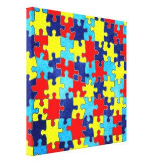 AutismMedvetenhet-Pussel av Shirley Taylor Canvastryck