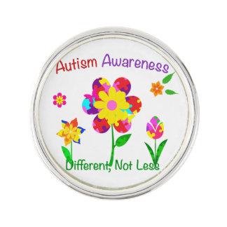 Autismmedvetenhetblommor Kavajnål
