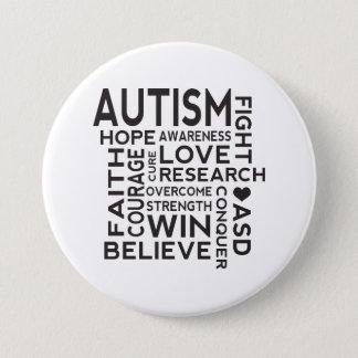 AutismmedvetenhetCollage Mellanstor Knapp Rund 7.6 Cm